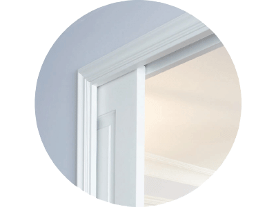 Sliding pocket doors with jambs