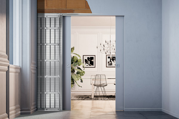 ECLISSE flush-to-the-wall sliding pocket door system