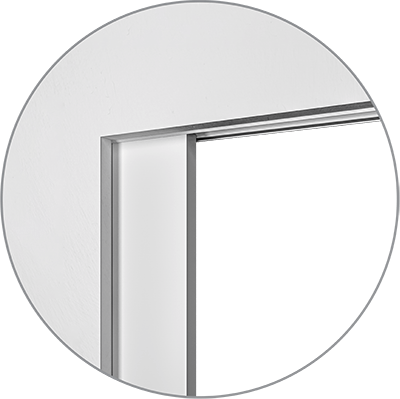 Sliding pocket door without jambs
