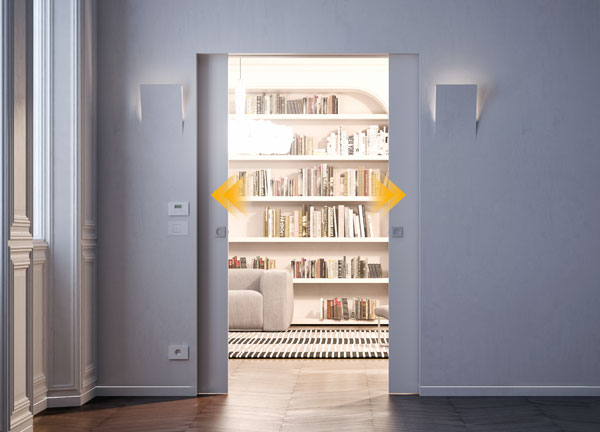 simultaneous movement of two parallel sliding doors