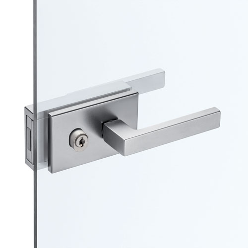 Handles with lock fitted for cylinder for ECLISSE hinge