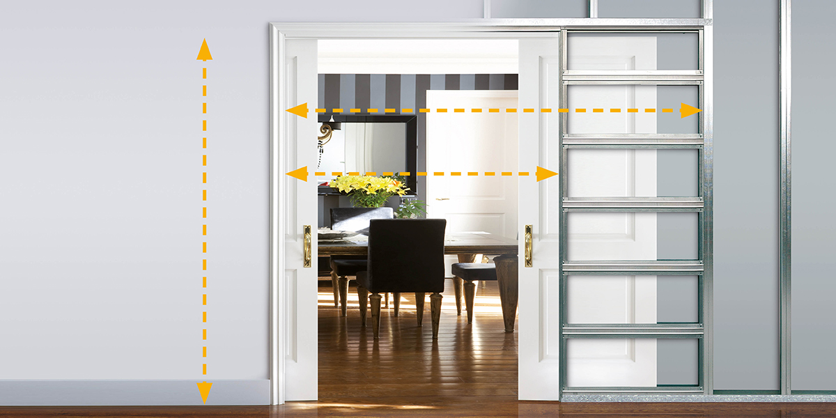 ECLISSE sliding pocket door system - Size Guide