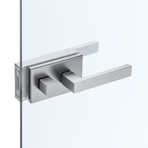 Handles with lock and thumb turn for ECLISSE hinged glass doors