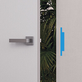 Electric strike for wooden hinged doors