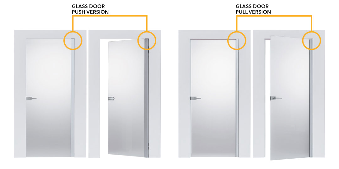 ECLISSE Syntesis glass door features