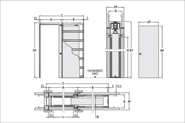 Dwg Drawings For Hinged And Sliding Pocket Doors Eclisse
