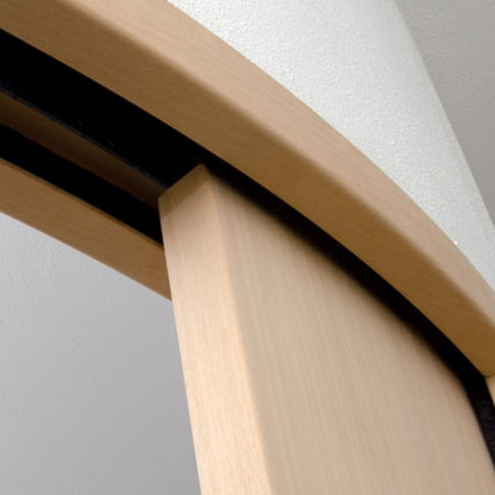 Untreated curved doors